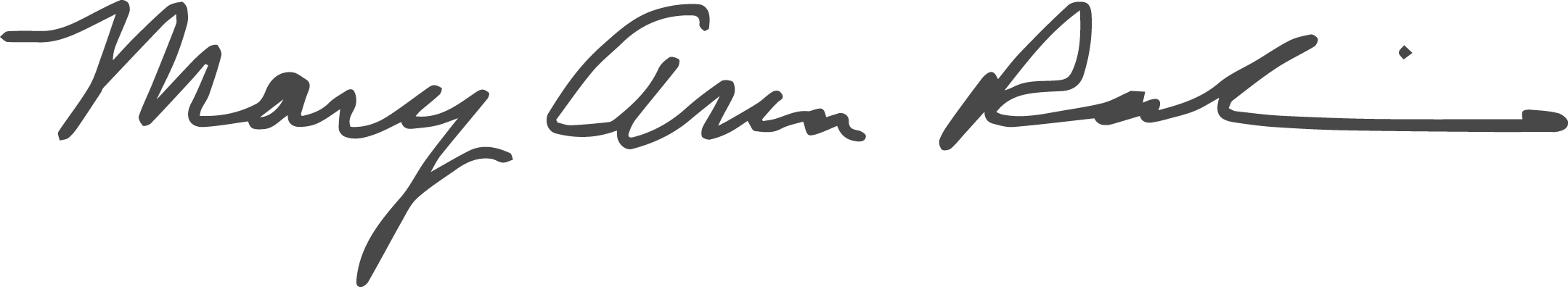 Mary Ann Rankin Signature